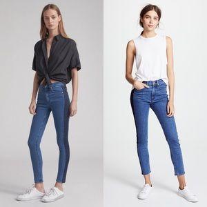 RAG & BONE Mazie Side Stripes Skinny Jeans